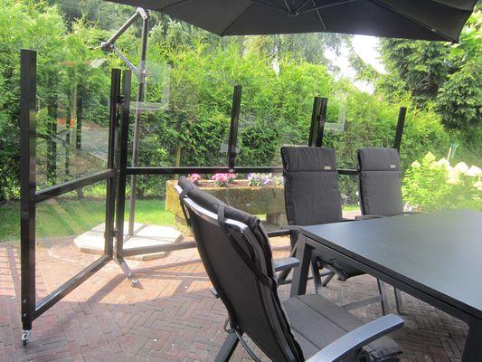 Plexiglas Windscherm Tuin : Verrijdbare windschermen voor de tuin terras of terrein